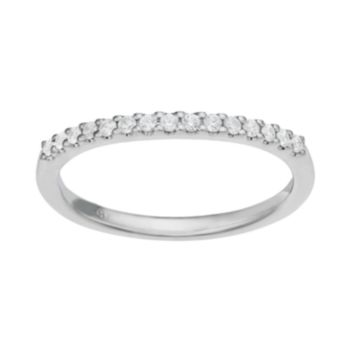 14k White Gold 1/6 Carat T.W. Diamond Wedding Ring