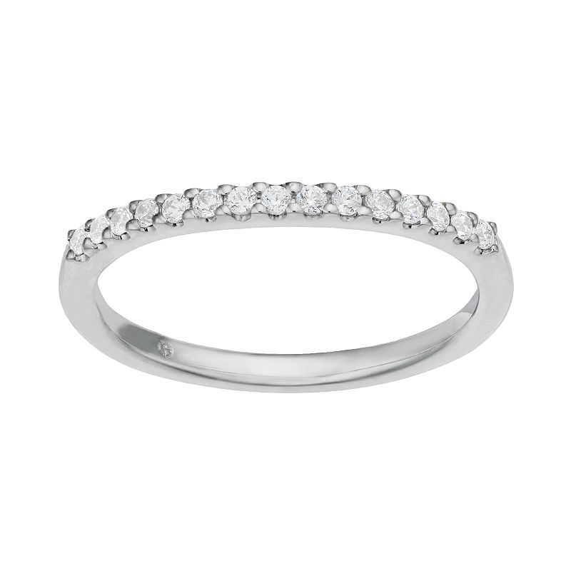1/6 Carat T.W. Diamond 14k White Gold Wedding Ring