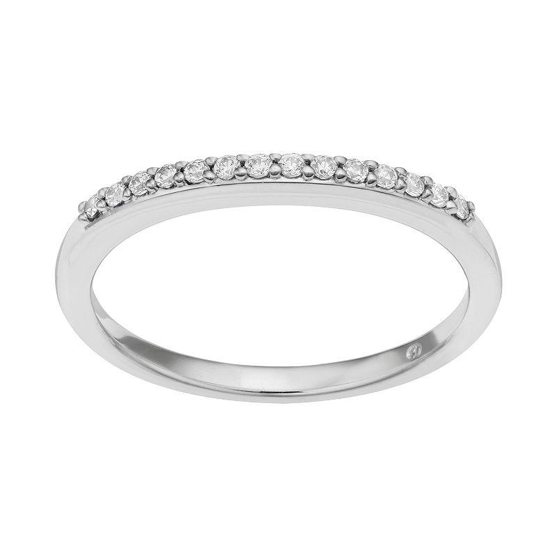 1/10 Carat T.W. Diamond 14k White Gold Wedding Ring