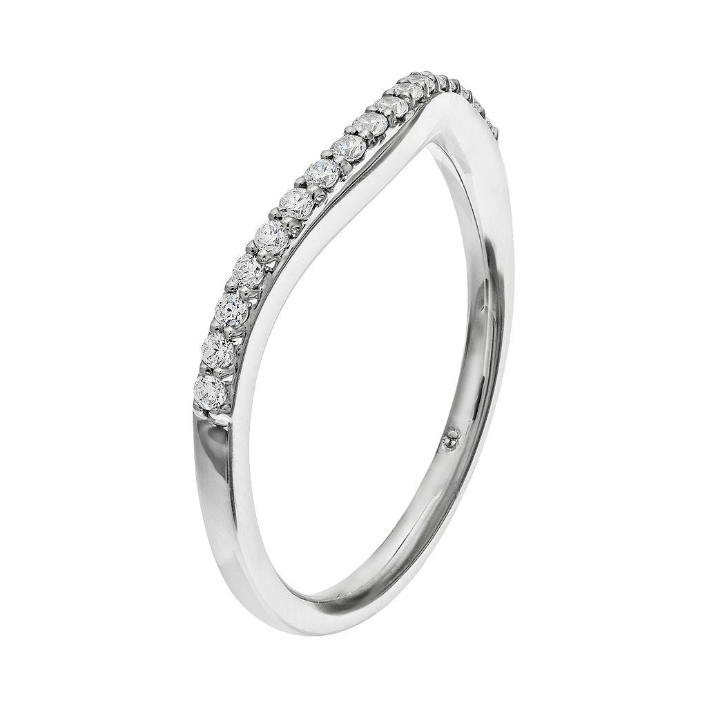 14k White Gold 1/6 Carat T.W. Diamond Wedding Ring