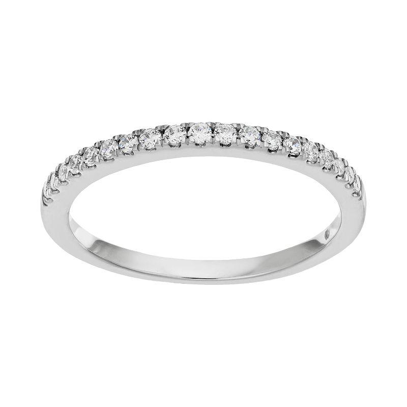 1/5 Carat T.W. Diamond 14k White Gold Wedding Ring