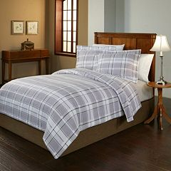 Pointehaven Jensen Flannel Duvet Cover Set