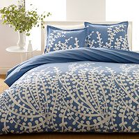 City Scene Branches Reversible Duvet Cover Set