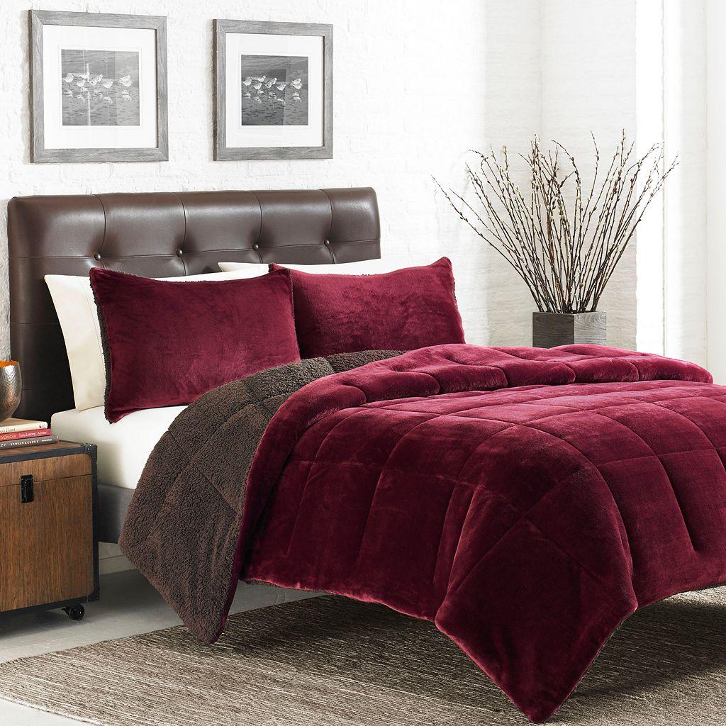 Eddie Bauer Premium Fleece & Sherpa Reversible Comforter Set