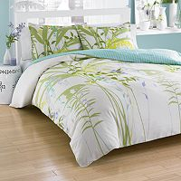 City Scene Mixed Floral Comforter Set