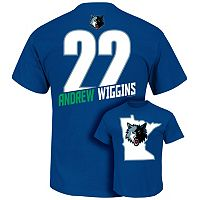 Men's Majestic Minnesota Timberwolves Andrew Wiggins Tee