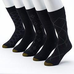 GOLDTOE 5-pack Patterned & Solid Dress Socks - Men