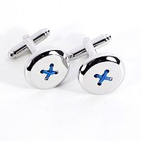 Bey-Berk Button Cuff Links