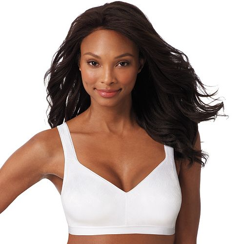 e97bcd4a5df3c Playtex Bra  18-Hour Active Comfort Wire-Free Jacquard Full-Figure Bra 5452  - Women s