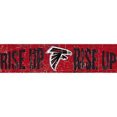 Atlanta Falcons 6' x 24' Slogan Wood Sign