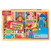 T.S. Shure Pocket Bears Wooden Magnetic Dress-Up Set