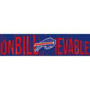 "Buffalo Bills 6"" x 24"" Slogan Wood Sign"
