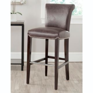 Safavieh Seth Faux Leather Bar Stool