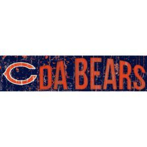 "Chicago Bears 6"" x 24"" Slogan Wood Sign"
