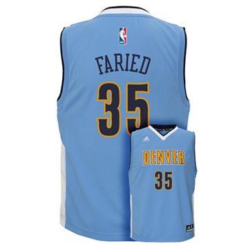 Boys 8-20 adidas Denver Nuggets Kenneth Faried NBA Replica Jersey