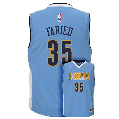 watch 21508 98f13 Boys 8-20 adidas Denver Nuggets Kenneth Faried NBA ...