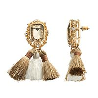GS by gemma simone Nouveau Baroque Tapestry Tassel Drop Earrings