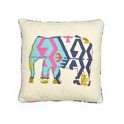 Malawi Elephant Throw Pillow