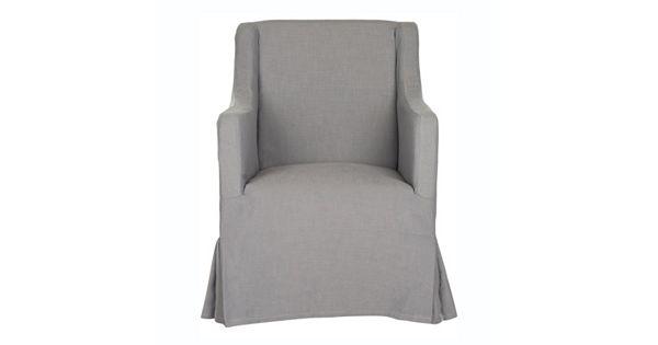 safavieh sandra slipcover accent chair. Black Bedroom Furniture Sets. Home Design Ideas