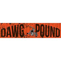 Cleveland Browns 6' x 24' Slogan Wood Sign