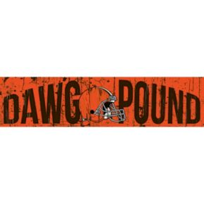 "Cleveland Browns 6"" x 24"" Slogan Wood Sign"