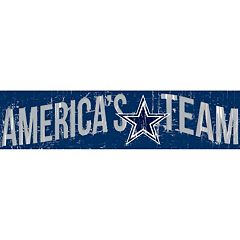 Dallas Cowboys 6' x 24' Slogan Wood Sign