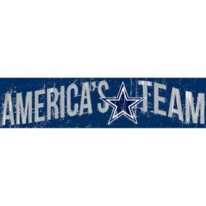 "Dallas Cowboys 6"" x 24"" Slogan Wood Sign"