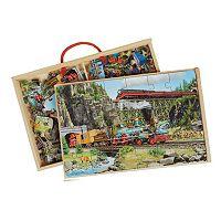 T.S. Shure PuzBox 2-pk. Trains Wooden Puzzles
