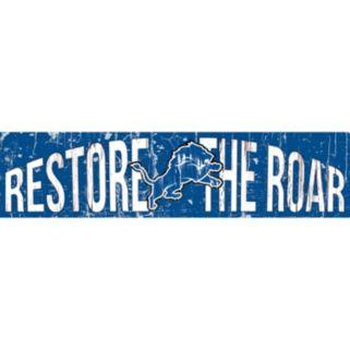 """Detroit Lions 6"""" x 24"""" Slogan Wood Sign"""