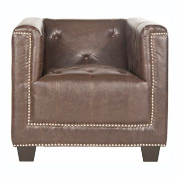 Safavieh Bentley Faux-Leather Club Chair