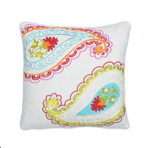 Windsong Paisley Throw Pillow