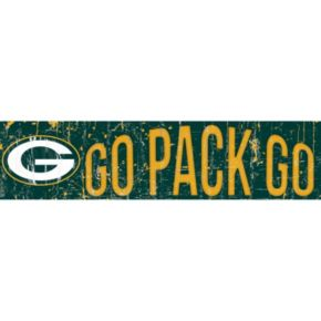 "Green Bay Packers 6"" x 24"" Slogan Wood Sign"