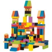 T.S. Shure ArchiQuest 136-Piece Master Builder Wooden Blocks Set