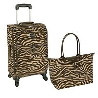 Chaps Fairhaven Spinner Carry-On Luggage with Travel Bag