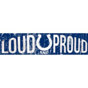 "Indianapolis Colts 6"" x 24"" Slogan Wood Sign"