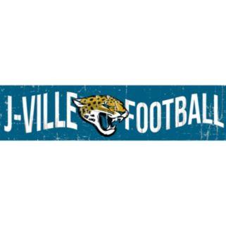 "Jacksonville Jaguars 6"" x 24"" Slogan Wood Sign"