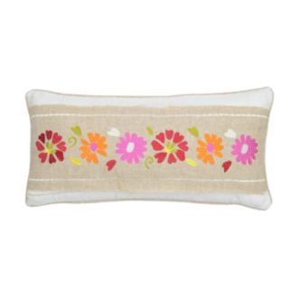 Windsong Floral Throw Pillow