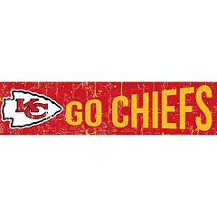 Kansas City Chiefs 6' x 24' Slogan Wood Sign