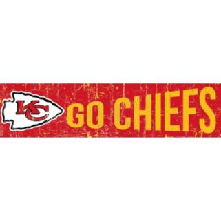"Kansas City Chiefs 6"" x 24"" Slogan Wood Sign"