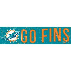 Miami Dolphins 6' x 24' Slogan Wood Sign