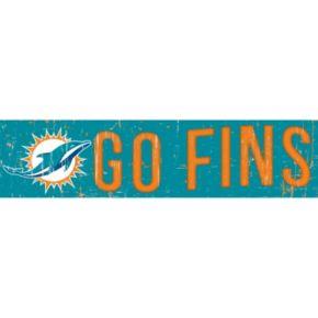"Miami Dolphins 6"" x 24"" Slogan Wood Sign"