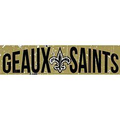 New Orleans Saints 6' x 24' Slogan Wood Sign