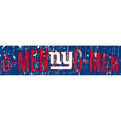 New York Giants 6' x 24' Slogan Wood Sign