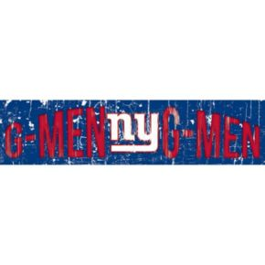 "New York Giants 6"" x 24"" Slogan Wood Sign"