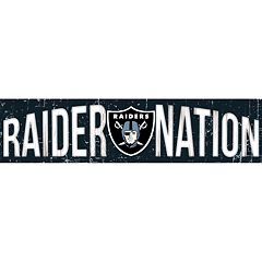 Oakland Raiders 6' x 24' Slogan Wood Sign