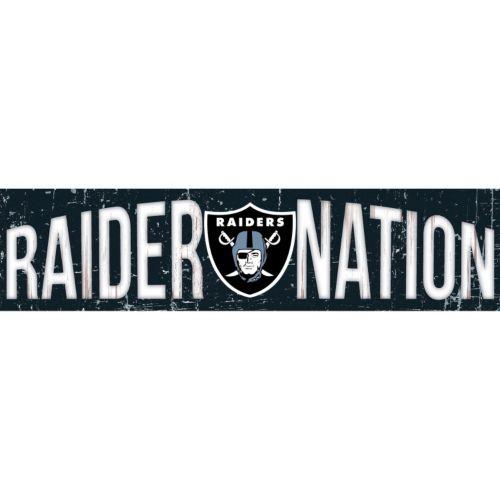Oakland Raiders 6 x 24 Slogan Wood Sign