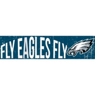 "Philadelphia Eagles 6"" x 24"" Slogan Wood Sign"