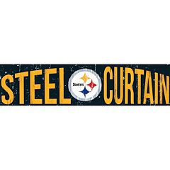 Pittsburgh Steelers 6' x 24' Slogan Wood Sign