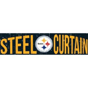 "Pittsburgh Steelers 6"" x 24"" Slogan Wood Sign"