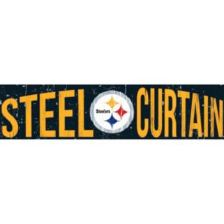 "Pittsburgh Steelers 6"" x 24"" Slogan Wood Sign"